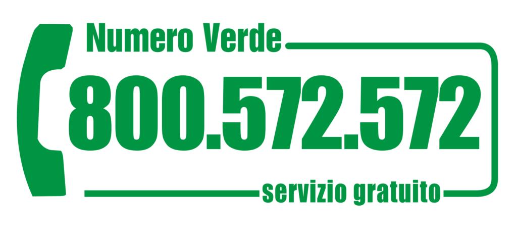 Numero Verde gratuito 800.572.572